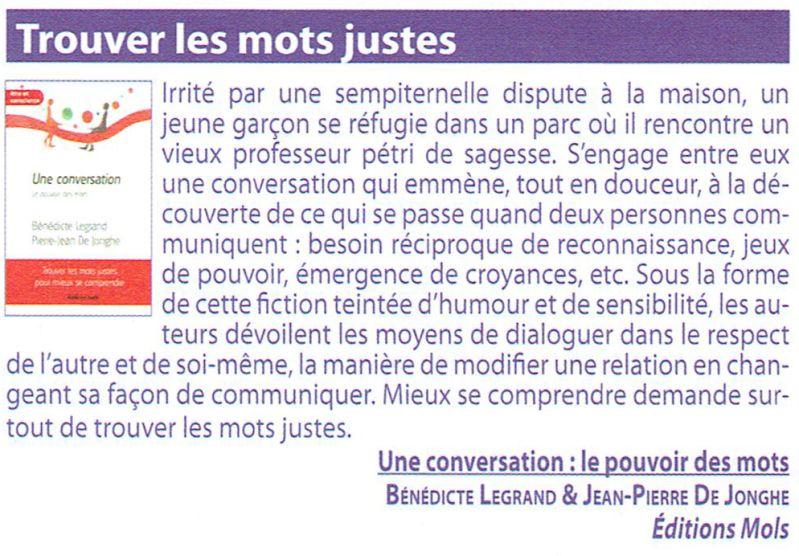 Bio Info : Une conversation - Le pouvoir des mots