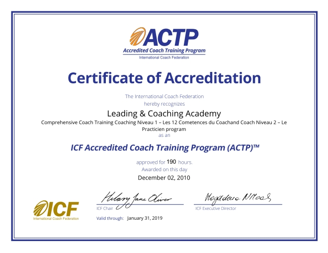 International Coach Federation - ACTP